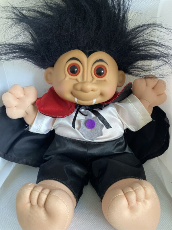 "Vintage 12"" Russ Troll Dracula/Vampire Doll Halloween Collectible Rare"