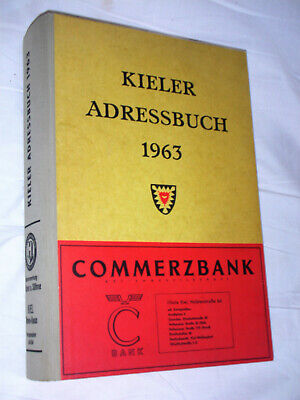 KIELER ADRESSBUCH 1963