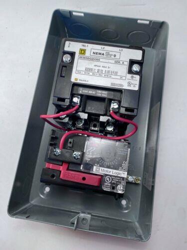 Square D 8536SBG2H30S Motor Starter, NEMA Size 0, Series A, New