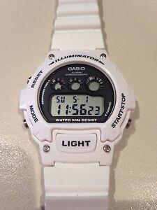 Casio Unisex White Illuminator Watch.