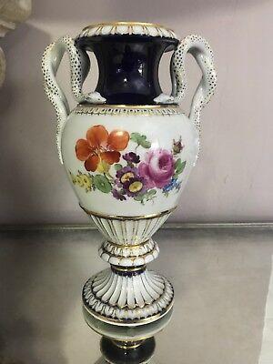 Meissen Schlangenhenkel Snake Handles Vase - Mint!