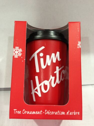 2019 TIM HORTONS CHRISTMAS ORNAMENT TAKE OUT COFFEE CUP MINT IN BOX