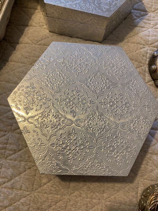silver accent boxes