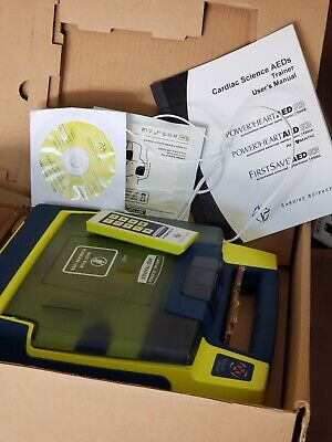 Cardiac Science Aed Trainer With Training Pads Used W Remote