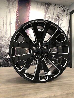 "4  22"" OE 2018 Yukon Denali Wheels Gloss Black and Milled GMC Tahoe Yukon"