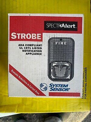 New .. Spectralert System Sensor Strobe Red S121575