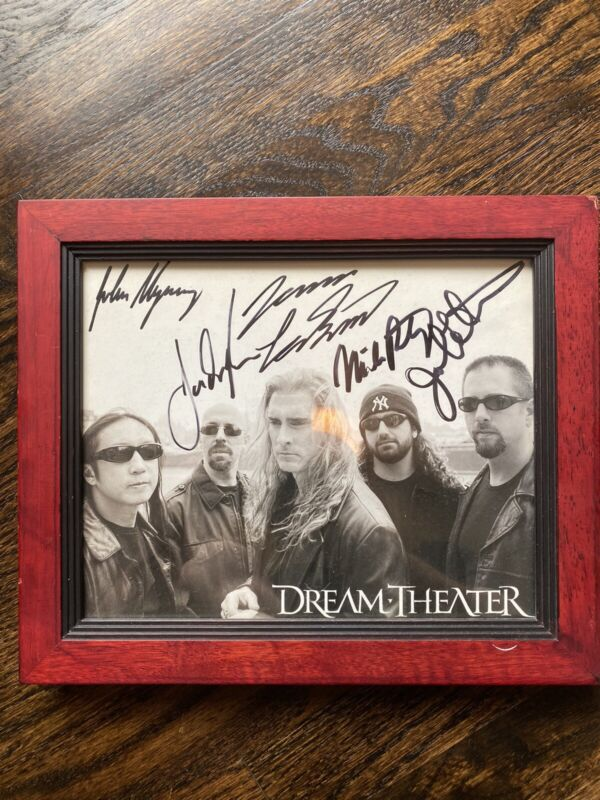 "Dream Theater autographed - Portnoy, LaBrie - 8 X 10"" Photo 2 Pieces"