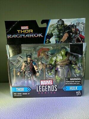 "Marvel Thor ""Ragnarok"" Marvel Legends Series, Thor and Hulk action figures"