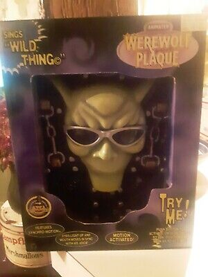 Gemmy Animated Werewolf Plaque sings Wild Thing Pre-owned with box