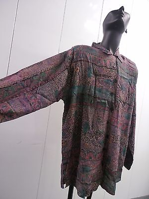VINTAGE 90s living color style MAJOR DETAILS PURPLE LAVENDER mens SHIRT FASHION