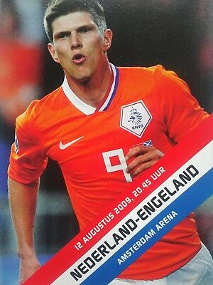 Holland v England 12/8/2009 Friendly International Mint condition