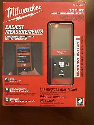 Mileaukee 330 Ft Laser Distance Meter 48-22-9803 New In Box