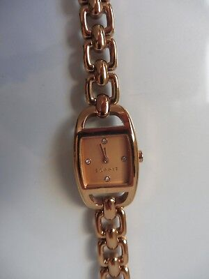 __ Classy Wrist Watch __Esprit__ Gold Plated__New __