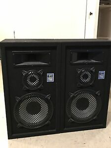 2 speakers & stereo receiver