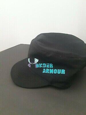 Under Armour Womens Black Strap Back Short Brim Pillbox Golf Hat OSFA