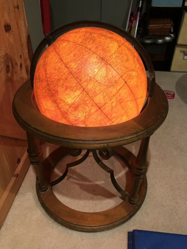 "Vintage 16"" Political Terrestrial CRAM Butler Light Up Floor Library Globe"
