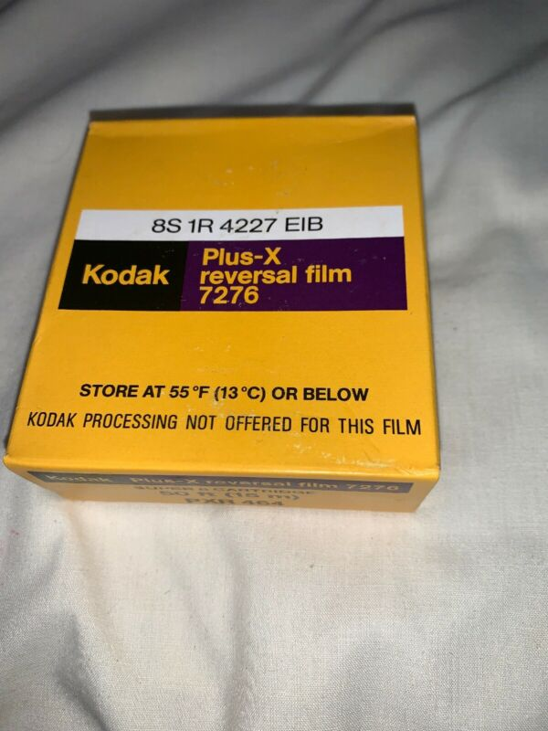 Kodak Plus-x Reversal Film 7276 NOS Super-8