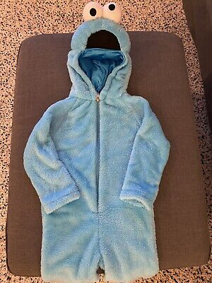 Cookie Monster Costumer- Toddler Size 2T- Pre-Owned