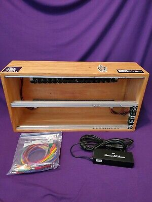 Custom 2x104HP Eurorack case w/Synthrotek Power Supply & patch cables