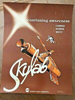 1973 NASA GSFC Manned Flight Awareness Poster: SKYLAB ...continuing awareness