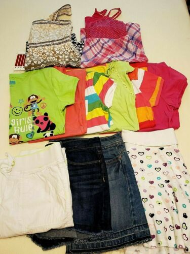 Girls Size 16/18 Mixed Lot Summer Clothes 12 Pieces Justice Old Navy & More