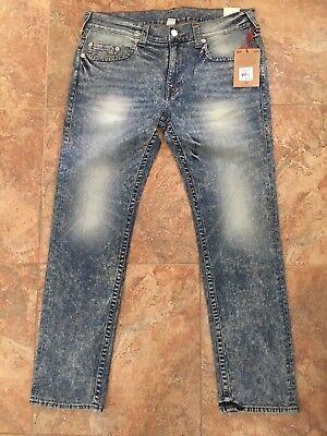 $199 True Religion Mens Skinny Fit Jean Stretch 100114 Size 38 Mountain Face (Skinny Face Men)