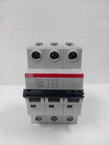 1pc New Abb S203-c100 3p 100a