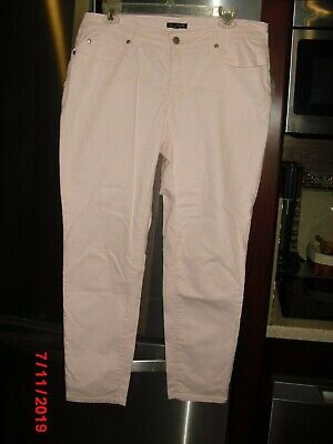 Cropped Jeans Spandex (EILEEN FISHER PALE PINK CROPPED JEANS SZ 10 ORGANIC COTTON/SPANDEX EUC)