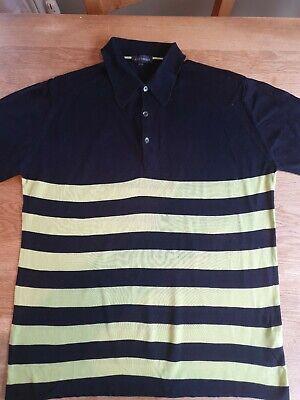 John Smedley Sea Island Cotton Short Sleeved Polo Shirt Sz L