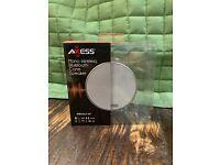 White Axess Mono Wireless Bluetooth Cone Speaker SPBT1042-WT