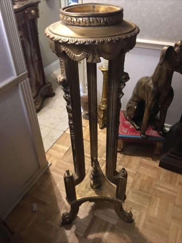 antique pedestals pair