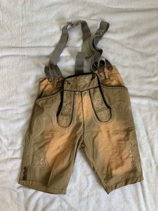 "Vegan German Bavarian Oktoberfest Men's ""Lederhosen"" European Size 46"