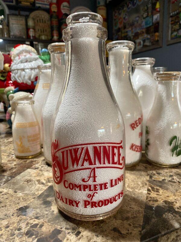 Suwannee Pyro Florida Quart Milk Bottle
