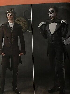 Mens Steampunk Cosplay Costumes Jacket size 46-52 Simplicity 1039 Sewing Pattern