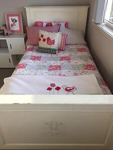 King Single Slat Bed and Chest of Drawers - French Provincial Ha Corlette Port Stephens Area Preview
