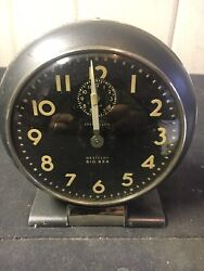 WESTCLOX BIG BEN WINDING TABLE ALARM CLOCK CAN.-RD 1938 ANTIQUE MADE IN USA
