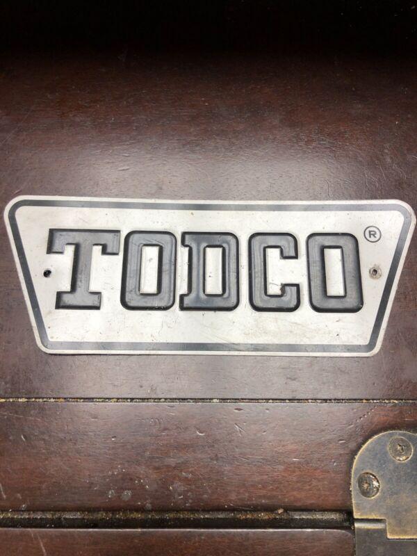 "Vintage Original Todco Tin Fence Sign 7"" Non-Porcelain"