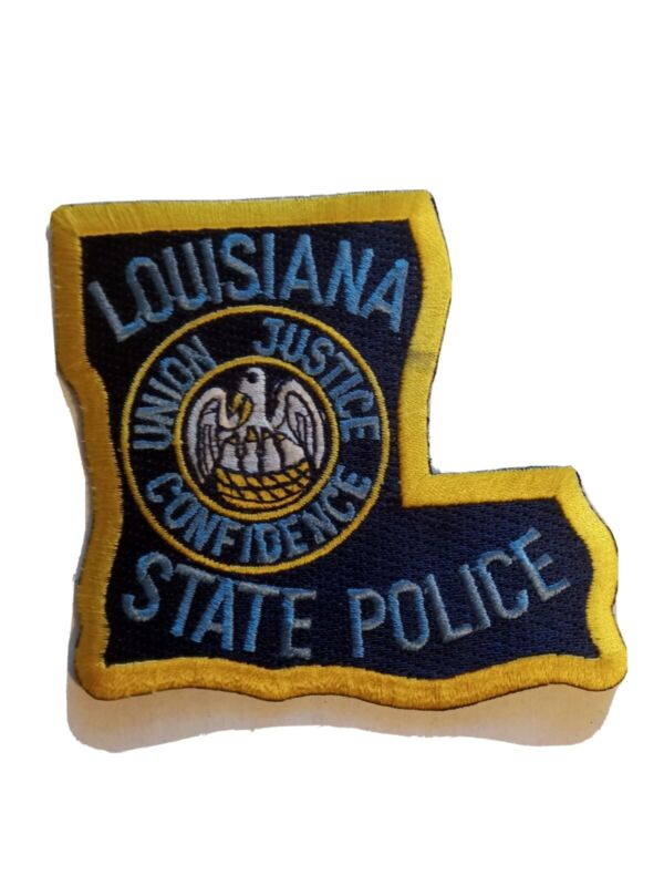 Louisiana State Police Shoulder Patch New - State Shaped Shape LA Trooper Patrol
