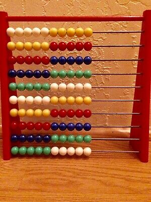 Wooden Abacus Educational Toy Maths Counting Bead Kids Learning Tool, Colorfull