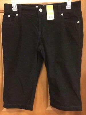 Black Corduroy Capris Cropped Riding Pants Misses Size 10 NWT Corduroy Cropped Pants