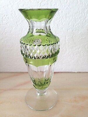 Vase du Val Saint Lambert - petit modèle Gary - vert de chine - signé