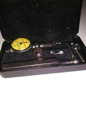 Vintage Starrett Last Word Dial Indicator Set Model 711f .001 Very Good