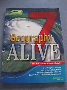 Geography Alive 7 Textbook, Jacaranda (Excellent Condition) Bulleen Manningham Area Preview