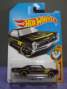 2017 HOT WHEELS 67 PONTIAC GTO HW MUSCLE MANIA Long Card New C
