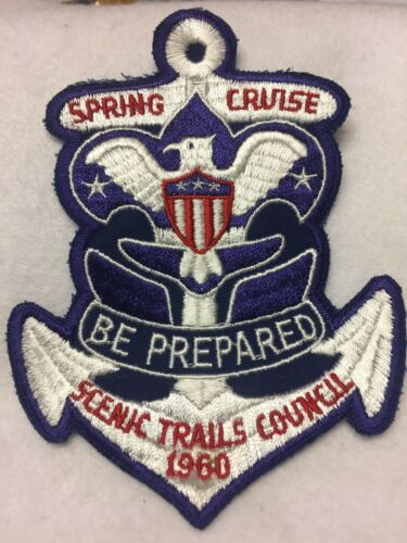 (mr7)      1960 Scenic Trails Council - large Spring Cruise patch