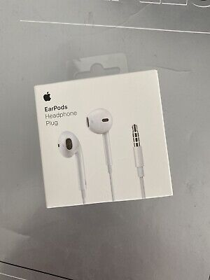 Genuine NEW Apple EarPods - 3.5mm Headphone Plug White In-Ear iPhone 5 5S 6 6S