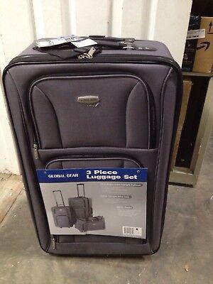 Global Traveler Luggage - 3-Piece Charcoal Luggage Travel Set Global Gear 27