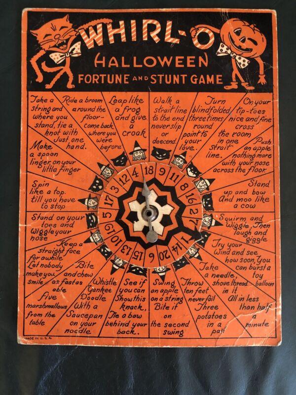 Vintage Original Beistle Sandra Pearl Whirl-O Halloween Fortune and Stunt Game