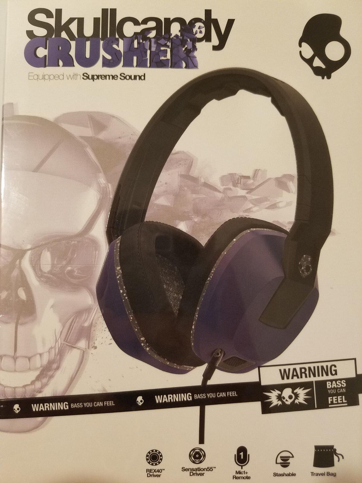 Skullcandy - Crusher Over-the-ear Headphones - Blue/gray
