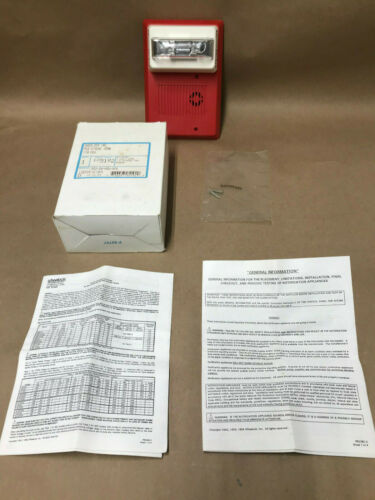 WHEELOCK Inc MIZ Strobe Horn MIZ-24-HSW-HFR Fire Alarm